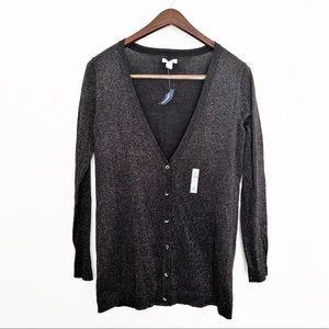 🌪 NWT Old Navy Shimmery Black Cardigan, Large